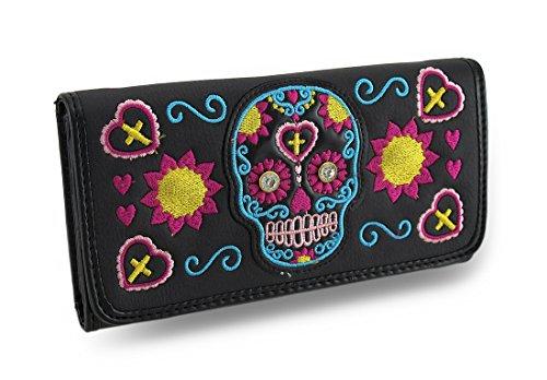 Zeckos ,  Damen Damen-Geldbörse, mehrfarbig - mehrfarbig - Größe: One Size (Wallet Biker Tri-fold)