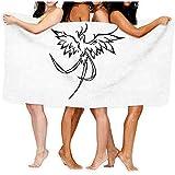Wilburt Allarga Le Ali dell'uccello Asciugamano da Bagno Stampato Avvolgimento per Doccia Spiaggia Asciugamani per Il Corpo Waffle Impacco per Il Corpo Spa Home Viaggi Hotel