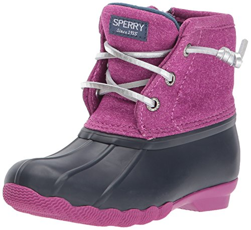Sperry Saltwater Snow Boot Navy/Magenta