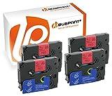 Bubprint 4 Schriftbänder kompatibel für Brother TZE-431 TZE 431 für P-Touch 1280 2430PC 2730VP 3600 9500PC 9700PC D400VP D600VP H100LB H105 P700 P750W