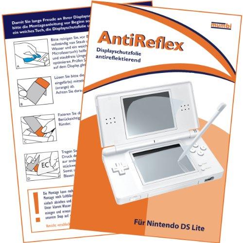 """mumbi Displayschutzfolie Nintendo DS Lite NDS Displayschutz Displayschutz """"AntiReflex"""" für Bildschirm UND Touchscreen antireflektierend"""