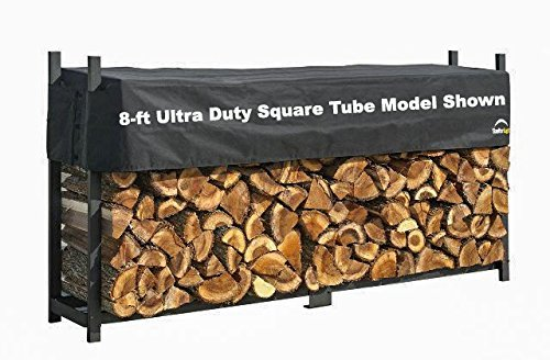 ShelterLogic Ultra Duty Firewood Rack with Cover, 8-Feet by ShelterLogic