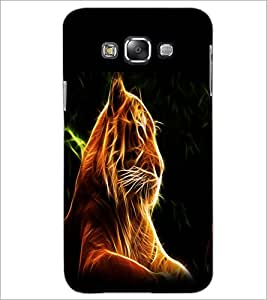 PrintDhaba Digital Lion D-1212 Back Case Cover for SAMSUNG GALAXY A7 (Multi-Coloured)