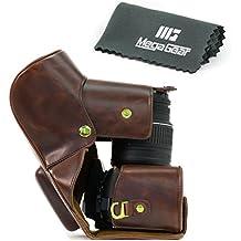 "MegaGear Case ""Toujours préstamo"" Brown Cámara de piel Para Nikon D5300Cámara con 18–55mm 18–135mm 18–200mm VR lente"