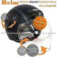 AIRWHEEL C6 Casco de la motocicleta / Casco de cara abierta Mujeres / Hombres Casco de la cabeza con cámara HD, Bluetooth, Auriculares, Intercomunicador