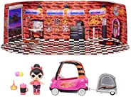 LOL Surprise Furniture B.B. Auto Shop with Spice Doll and 10+ Surprises, Doll Car Set, Accessories