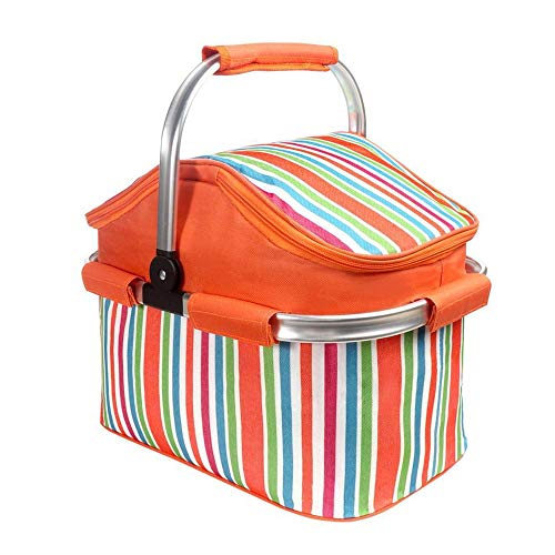 e Isolierte Lunchpaket Kühltasche Lebensmittelkonservierung Tasche Starke Aluminiumrahmen Wasserdicht Futter Outdoor Camping Wandern für 20L ()