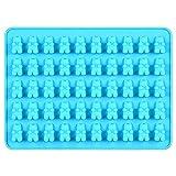 Beito 50 Löcher Bären-Silikon-Kuchen-Fondant-Form-Schokoladen-Backen-Plätzchen-Form-Dekor-Blau