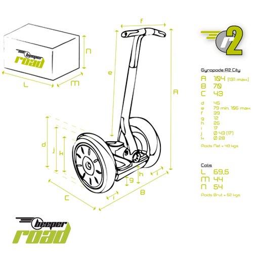 Beeper Road–City Road R2–gyropode Elektrische - 5