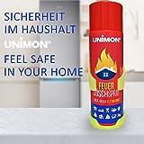Schaum Feuerlöscher Spray | Feuerlöschspray gegen Fett und Festbrand mit Wandhalterung für Auto Haushalt Küche Wohnmobil Test