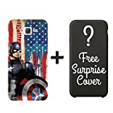 Hamee Official Marvel Avengers Civil War Captain America Shield Iron Man Slim Fit 3D Printed Hard Back Case / Cover for Samsung Galaxy J5 6 / J5 (2016) with FREE Surprise Cover Combo 10