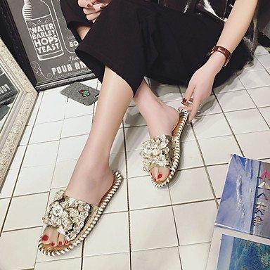 LvYuan Da donna Sandali PU (Poliuretano) Primavera Estate Piatto Oro Argento Meno di 2,5 cm Silver