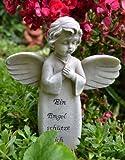Grabschmuck Engel EIN Engel schütze Dich EIN hübscher Stecker für die Grabschale, Maße: 18 x 12 cm