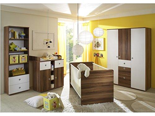 Preisvergleich Produktbild Babyzimmer Wiki 4-teilig Walnuss