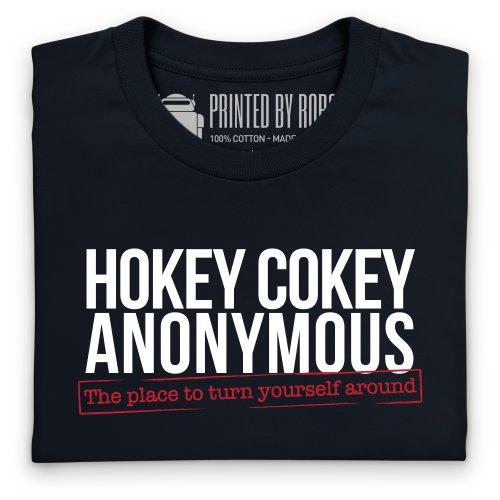 Hokey Cokey Anonymous T-Shirt, Damen Schwarz