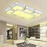 Modernes Wohnzimmer lampe Decke einfache moderne Persönlichkeit decke Schlafzimmer Arbeitszimmer Atmosphäre rechteckige Living Light, 94 * 61 cm Fernbedienung dimmen