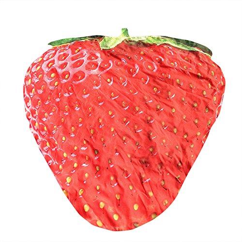 haruuy Picknickdecke 147 x 120 cm, Stranddecke Wasserdichte,Erdbeerentwurfs-Hippie-Tapisserie-Strand-Picknick-Wurf-Yoga-Matte-Tuch-Decke, Ultraleicht-kompakt-Wasserdicht-Und-Sandabweisend (Rot)