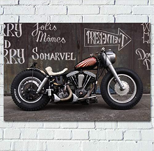 MZCYL Leinwand Malerei Wandkunst Bild Chopper Motorräder Vintage Superbike Poster Drucken Leinwand Malerei Ohne Rahmen 40 * 60 cm
