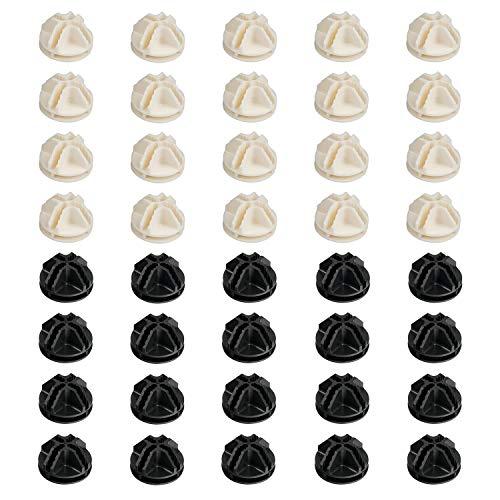 Syihaos 40 Stück Kunststoffverbinder für Drahtgitterwürfel Aufbewahrungsregale & Netz-Schnapp-Organizer und Draht-Regale, schwarz und weiß -