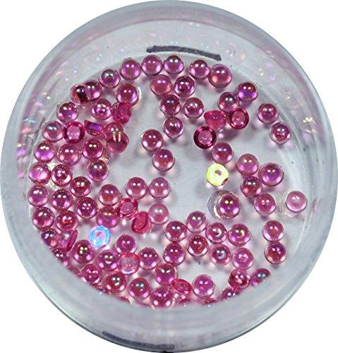 RM Beautynails Pierres en strass rondes de 1,2 mm Env. 50 pièces pour manucure et nailart