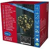 Konstsmide 3749-103 LED Lichternetz / für Außen (IP44) /  24V Außentrafo / 64 warm weiße Dioden / transparentes Kabel