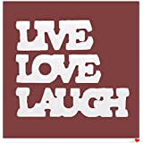 BESTOMZ LIVE LOVE LAUGH Wooden Letters Wedding Decoration (White)