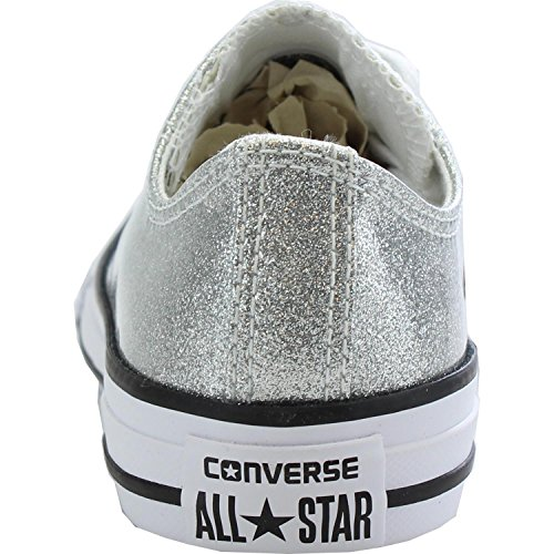 Converse Chuck Taylor All Star Ox Silver Synthetic Youth Trainers silver
