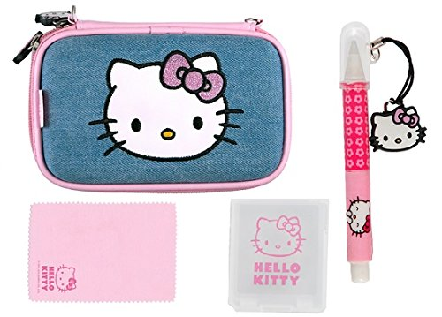 Full Pack Extreme Hello Kitty Jeans 4 in 1 für 3DS,3DS XL, DSi und DS Lite (Hello Kitty Travel Kit)