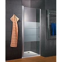 Schulte porte de douche pivotante, système autolevant, sans silicone, verre  décor dépoli light 016604890336