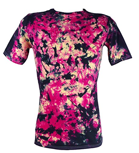 Tie Dye Fire Flames Scrunch T-shirt 702247 Herren T-Shirt Rot