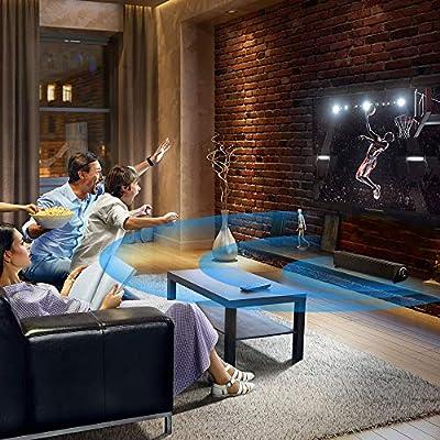 Barre de Son avec Subwoofer, MeihuaTu Soundbar caisson de basse Sans Fil, Bluetooth Enceinte 20W Home Cinema, Haut-parleur PC/TV avec télécommande- Noir par JYT Limited