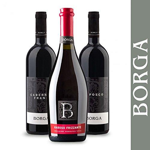 Cantine Borga: Confezione Mista di Rossi - 3 bottiglie - Refosco, Cabernet Franc e Raboso Veneto
