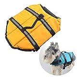 Hunde-Schwimmwesten, Hunde-Rettungs-Weste, Hundeschwimm-Weste, Hinternjagdjacke, -M (Gelb)