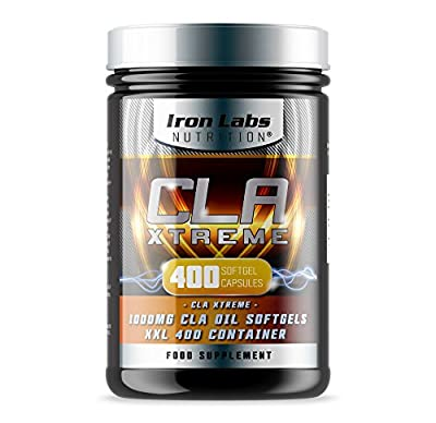 CLA Xtreme XXL - 1000mg x 400 Softgels | Ultimate CLA Supplement | Conjugated Linoleic Acid | No.1 CLA Sports Supplement from Iron Labs Nutrition