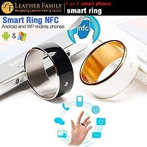ARBUYSHOP Smart Ring d'origine avec NFC pour Android / fenêtre téléphone fixe, portable à puce multifonctions dispositif Magic Ring pour HTC M9 noir, noir taille 12 70mm de Samsung