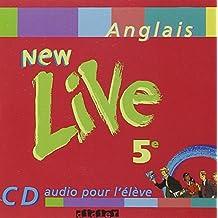 New Live : 5e, anglais LV1, pour l'élève (CD audio)