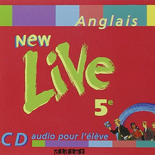 New Live : 5e, anglais LV1, pour l'lve (CD audio)