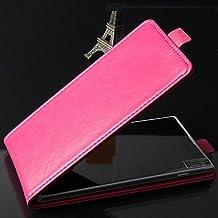 PREVOA BLUBOO Xtouch Funda - Flip PU Case Protictive Funda para BLUBOO Xtouch Smartphone 5,0 pulgadas - Hotpink