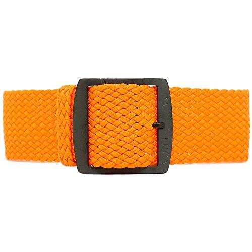 Fibbia cinturino Perlon Daluca-arancione (PVD): 20mm