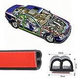 Haichen 5m b-tipo autoadesivi Automotive guarnizione striscia per auto porta finestra motore copertura anti-polvere Weatherstrip