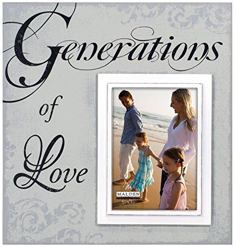 Malden International Designs Sentiments Generationen der Liebe Holz Bilderrahmen, 5x 7/12x 13, Light Gray (5 Bilderrahmen Generation)
