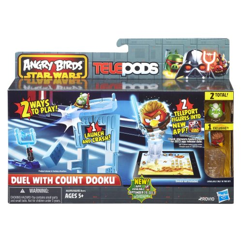 Angry Birds Star Wars Telepods Duel with Count Dooku Playset [importación Inglesa]