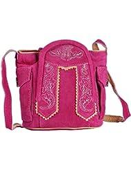 Handtasche aus Echtleder, 15cm, pink