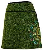 Guru-Shop Minirock, Sommerrock, Hippie Rock, Goa Rock, Damen, Grün, Baumwolle, Size:L/XL (40), Kurze Röcke Alternative Bekleidung