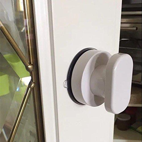 51h3Zn2N3CL - Zreal - Tirador de puerta con ventosa para armario de cocina, puerta de cristal, ventosa, tirador para muebles