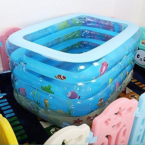HHBO 1.2 M Baby Pool Faltung aufblasbare Kinder Badewanne Haushalt aufblasbare Babybad
