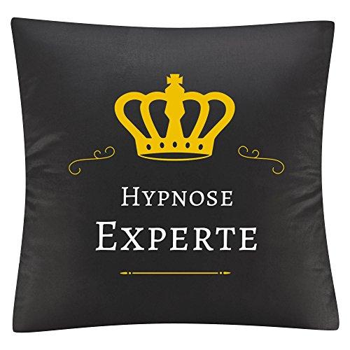 Kissenbezug Kissen Hypnose Experte schwarz