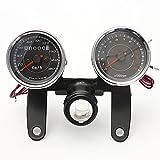 Generic Universal LED Motorcycle Tachometer+Odometer Speedometer Gauge One piece