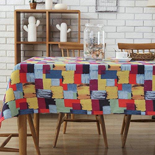 UEB Nappe Table Salle Fibres De Polyester Chiffon À Manger Pour Maison Hotel Cafe Restaurant Art Japonais 120Cm*160Cm