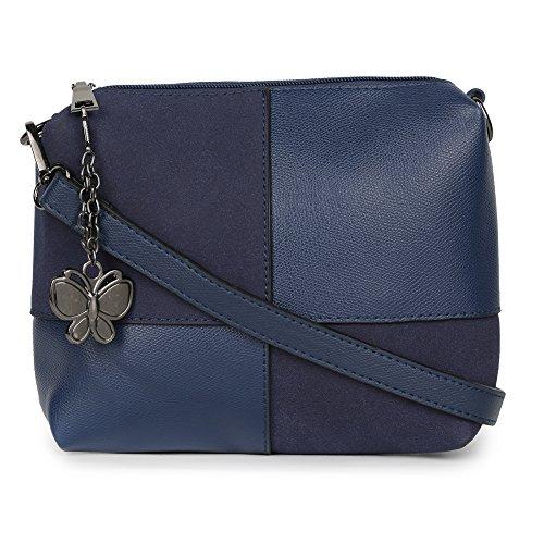 Butterflies Women Sling Bag (Blue) (BNS-B-2472#BL)
